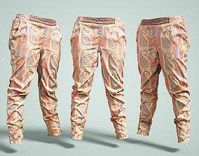Flower Decorated Pants 3D model