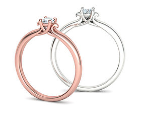 Solitaire Engagement ring Own design 3dmodel