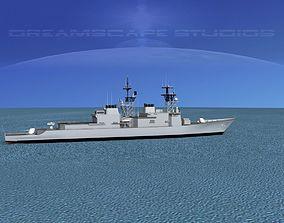 Spruance Class DD971 USS David R Ray 3D model
