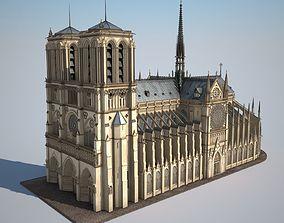 Notre-Dame de Paris Cathedral 3D