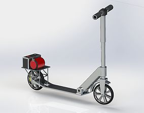 Electric Scooter Project tricycle 3D