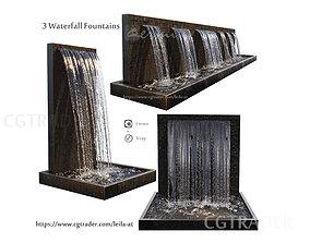 liquid 3D model Waterfall Fountains cascade
