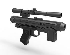 3D model Death trooper Light Repeating Blaster pistol