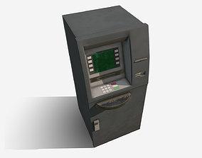 Low Poly PBR ATM Cash Machine 3D model