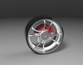 Wheel with brake disc 3D model