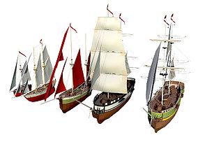 3D model sailboats