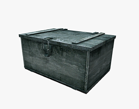 weathered Wooden Box 3D asset realtime