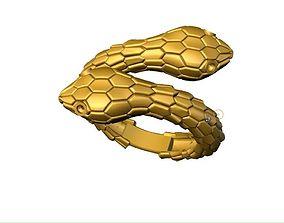 snake ring 3D printable model lasj