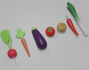 3D asset Cartoon Vegetable Pack