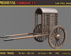 Medieval Carriage C3 3D asset PBR