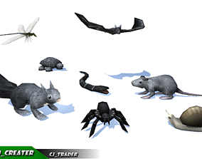 3D model Low-Poly Wild Critter-Insect Rigged Collection