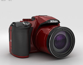 3D model Nikon Coolpix P610 Red coolpix