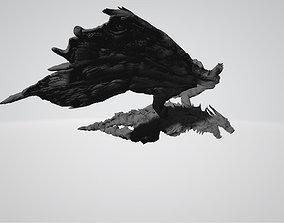 beast 3D printable model Dragon flying