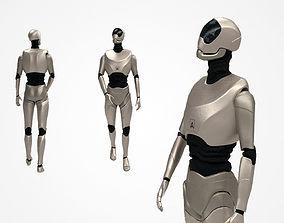 Sci-fi free robot BH-2 3D model