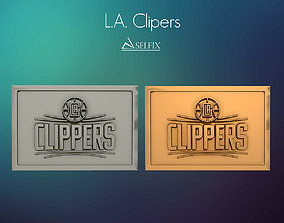 3D printable model Los Angeles Clippers logo relief