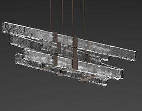 Stone Lustre Chandelier 3D model