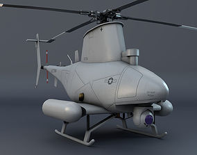 3D model Unmanned helicopter