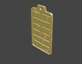 3D printable model rgd jie 2 hexagram pendant