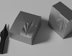 3D printable model Mold for forged spike