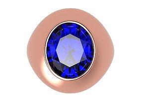 3D printable model Bid Polished Ring Oval Gem 12x10 All