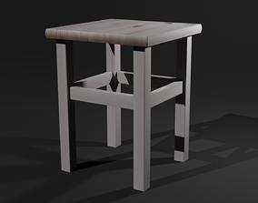 3D asset VR / AR ready Chair wooden