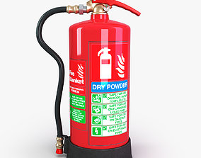 3D asset DRY Power fire extinguisher
