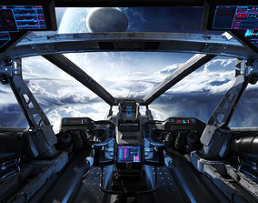 Spaceship Cockpit v2 technology 3D