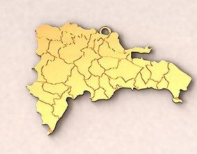 Dominican Republic Map Charm 3D printable model