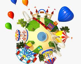 3D model Planet Park 01