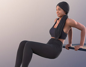 Fitness Girl Exercise Workout Gym 3Dhuman - 11405 realtime