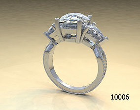 woman 3D print model Ring