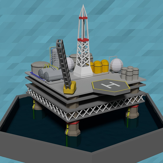 LowPoly Oil platform