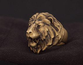 Lion animal head ring 3D printable model