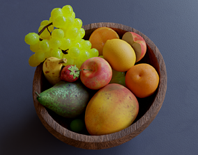 3D model Fruits Low Poly Pack