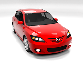 3D asset MAZDA 3 2004 LOWPOLY
