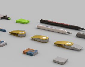 Stationery Set 01 3D model