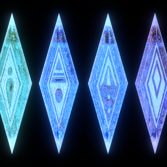 Elemental Gems from Frozen II