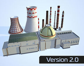 3D model VR / AR ready Industrial collection