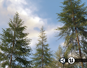 realtime Nature Assets - Spruce Trees