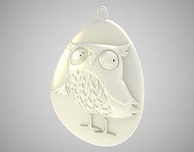 Rock Owl Necklace 3D printable model