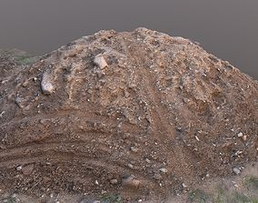 Pile of mud scanned 3D asset