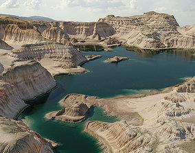 Terrain Canyon with lake - 16k scene 3D model