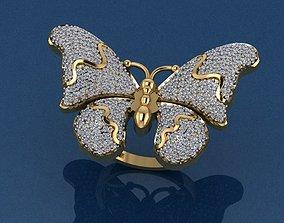 Gold Ring 3D print model 3D print model diamond