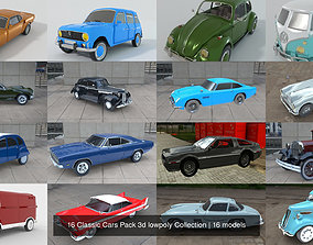martin 16 Classic Cars Pack 3d lowpoly Collection