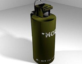 Hand Grenade Smoke Signal 3D model