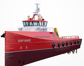 3D Fast Crew Supplier Vessel