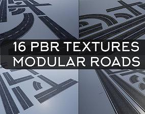 PBR Modular Road Pack street 3D model
