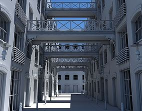 3D Building Alleyway
