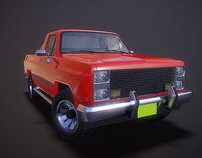 3D asset American pickup