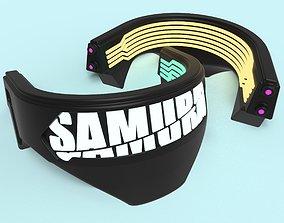 Cyberpunk 2077 SAMURAI Collar Cosplay 3d print